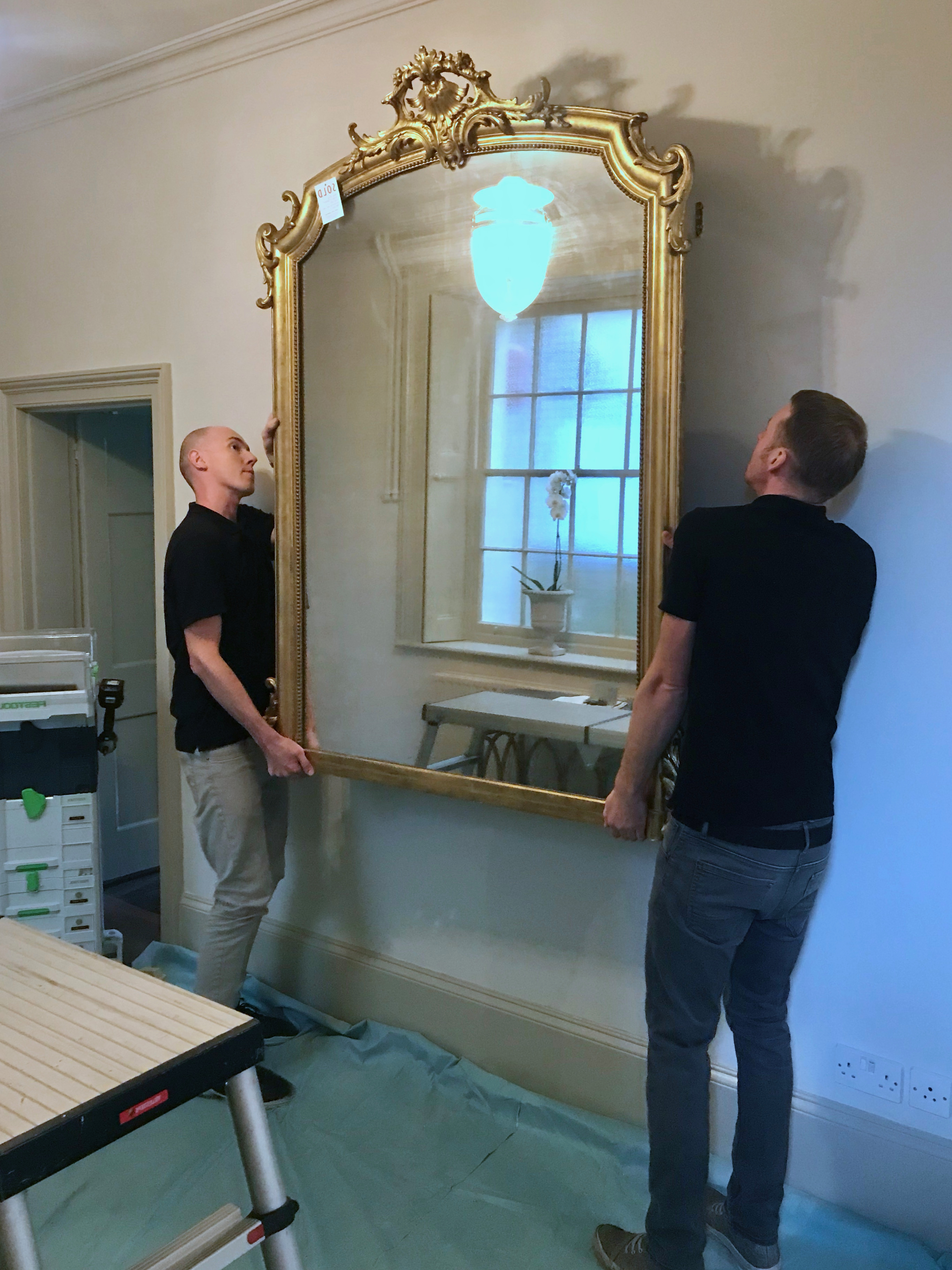 Professional Mirror Hanging in London
